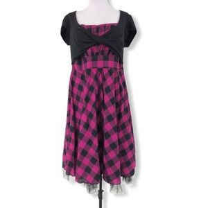 Torrid NWOT Dress Twist Front Check Rockabilly 12